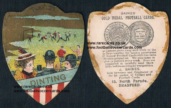 1900 Dinting FC Glossop Derby Baines card